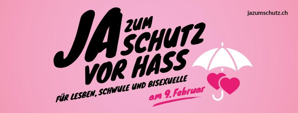 Ja zum Schutz vor Hass an der Abstimmung vom 9. Februar