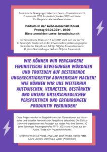 Flyer zum Podium vom 4. Juni 2021 bei KreuzKultur